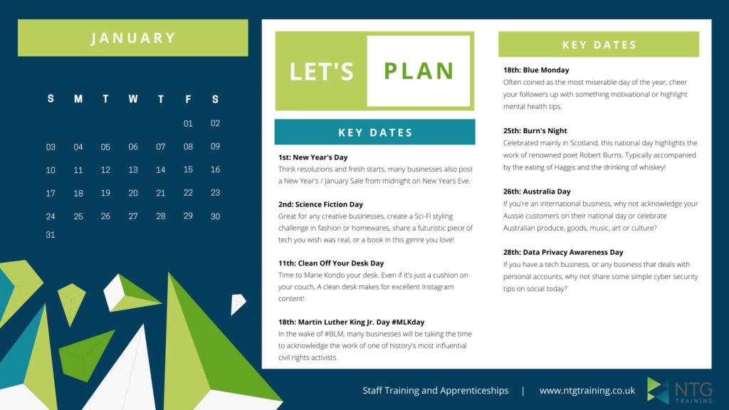 Free 2021 Content Calendar Preview